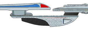 Excelsior-B class starship by davemetlesits