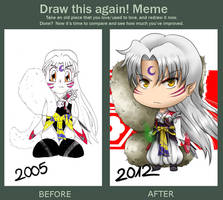 Before and After MEME :: Sesshomaru by Ya-e