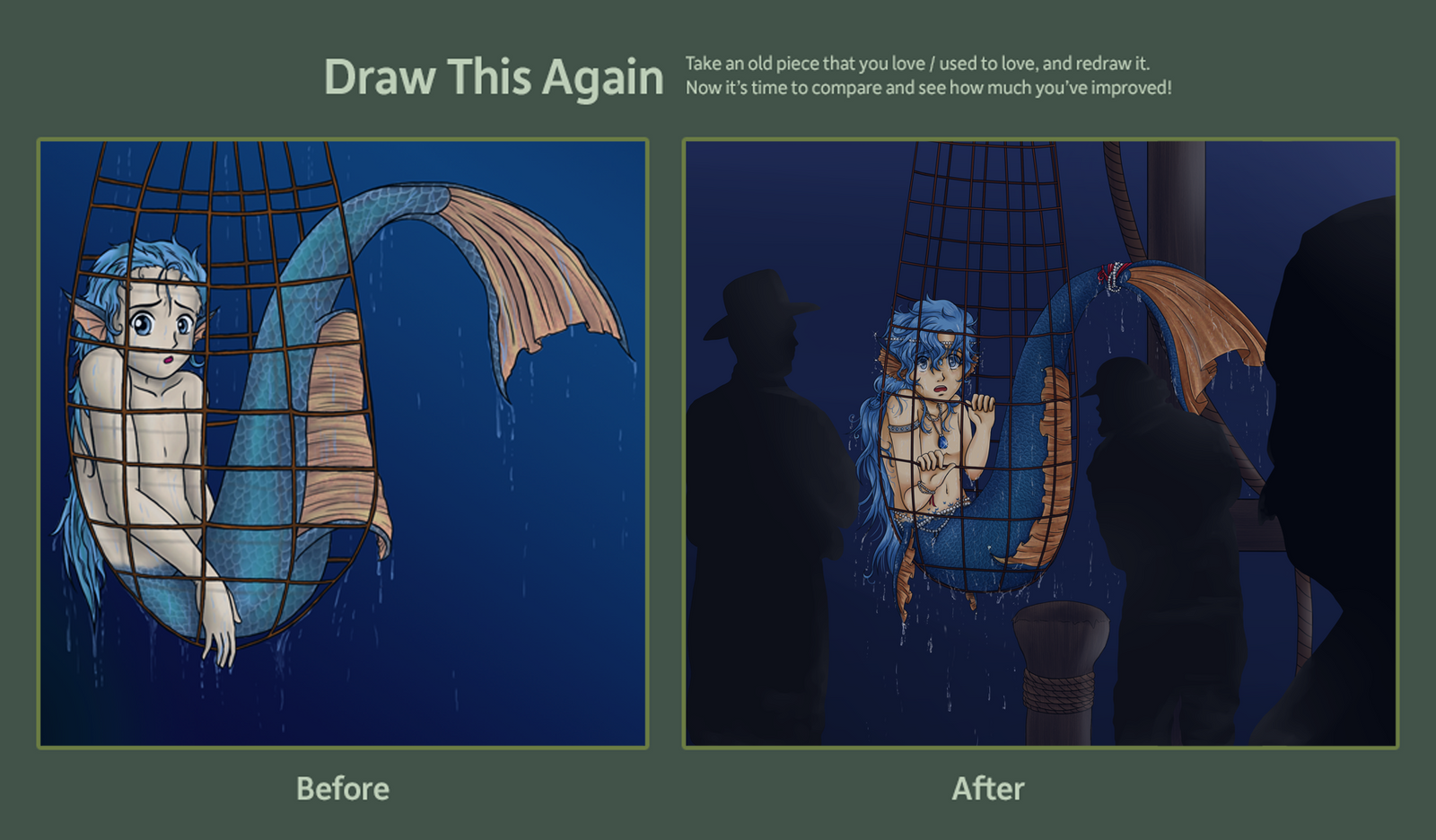 DRAW THIS AGAIN CONTEST: Catch of the day by Ya-e