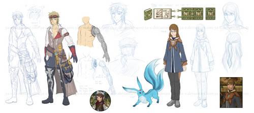Final Fantasy XIV OCs WIP
