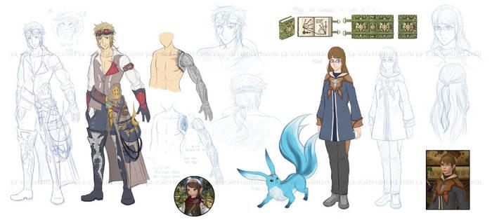 Final Fantasy XIV OCs WIP by Ya-e