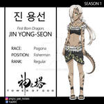 [Tower of God] Jin Yong-Seon - OC SHEET by Ya-e