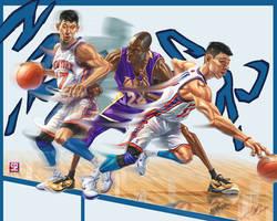 Jeremy Lin VS Kobe by A-BB