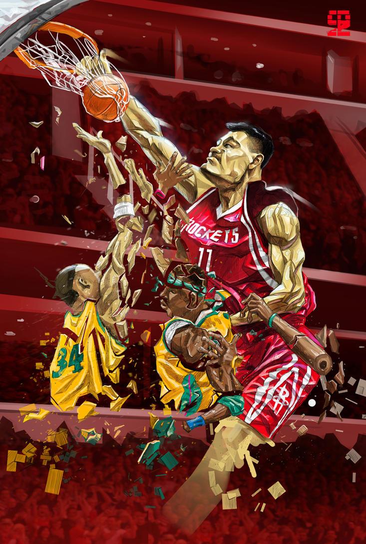 Yao Ming by A-BB
