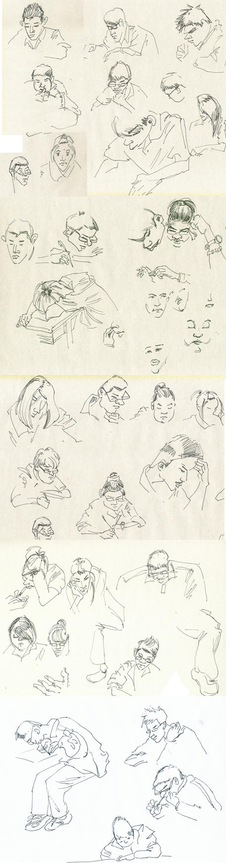 Students in exam by A-BB