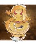Animal chibi commission yellow dragon  by Roku-nine