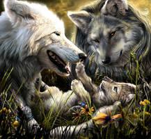 Werewolf Calender 2009 - July by Novawuff