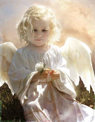 Annie as an Angel by Novawuff