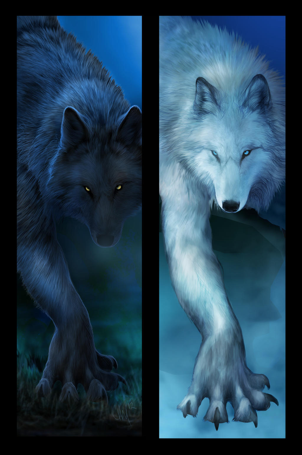 Faded Everything to Black and Blue by Novawuff
