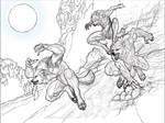 Werewolf Sketch Barf