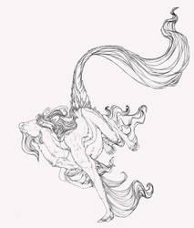 Kirin Lineart by Novawuff