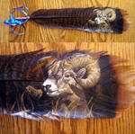 Featherpainting - Bighorn Ram