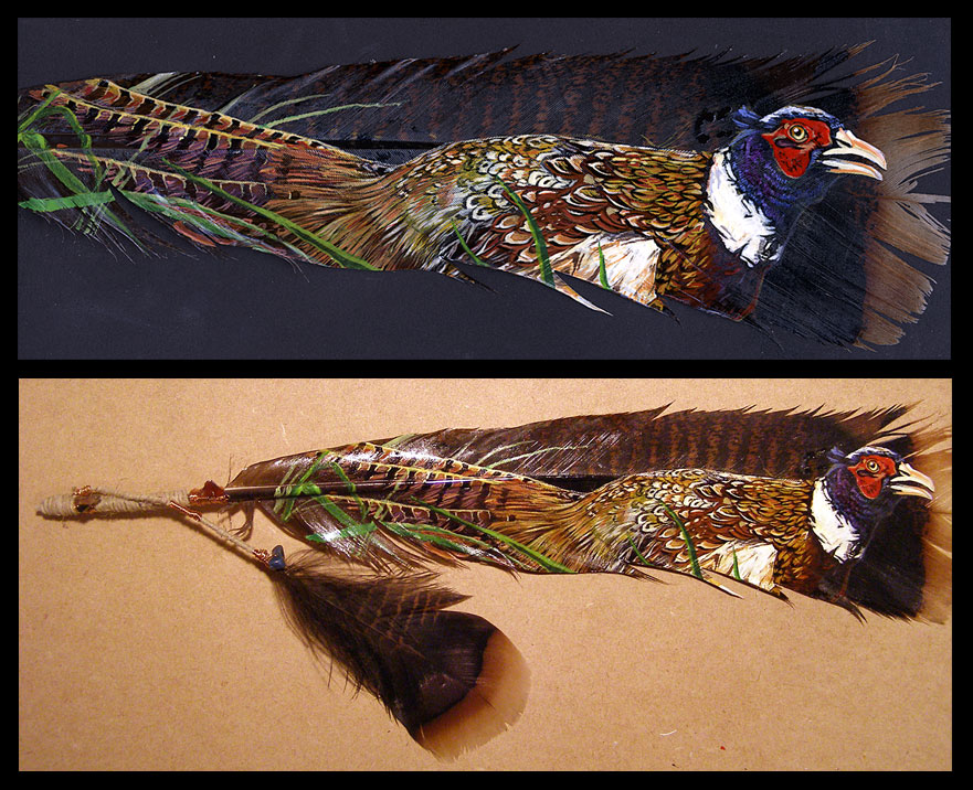 Pheasant Feather Painting