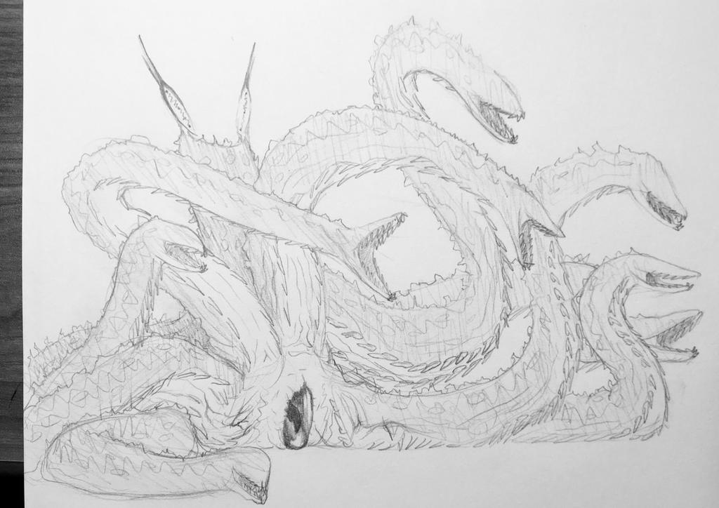 Smiling colossal hydra. by PinkAndScary