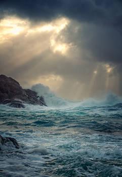 Crumbling sea