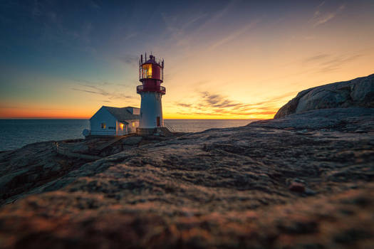 Sunset Lindesnes lighthouse II