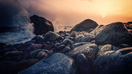 Rocky sunset I