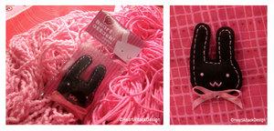 Sweet bunny brooch-HAD by Cute-Craft