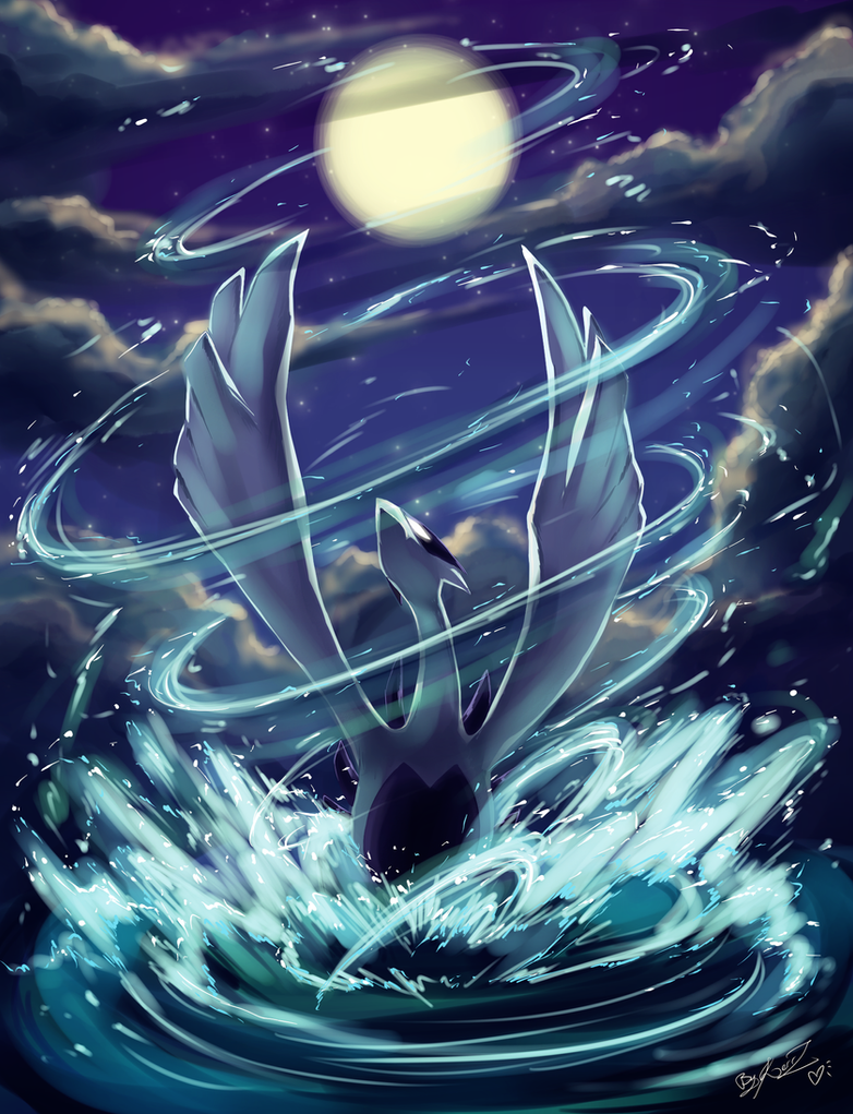 Lugia - Lord of the Sea - by EvilQueenie