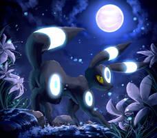 .:Moons Charm:. Shiny Umbreon by EvilQueenie