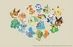 Pokemon Starters Wallpaper
