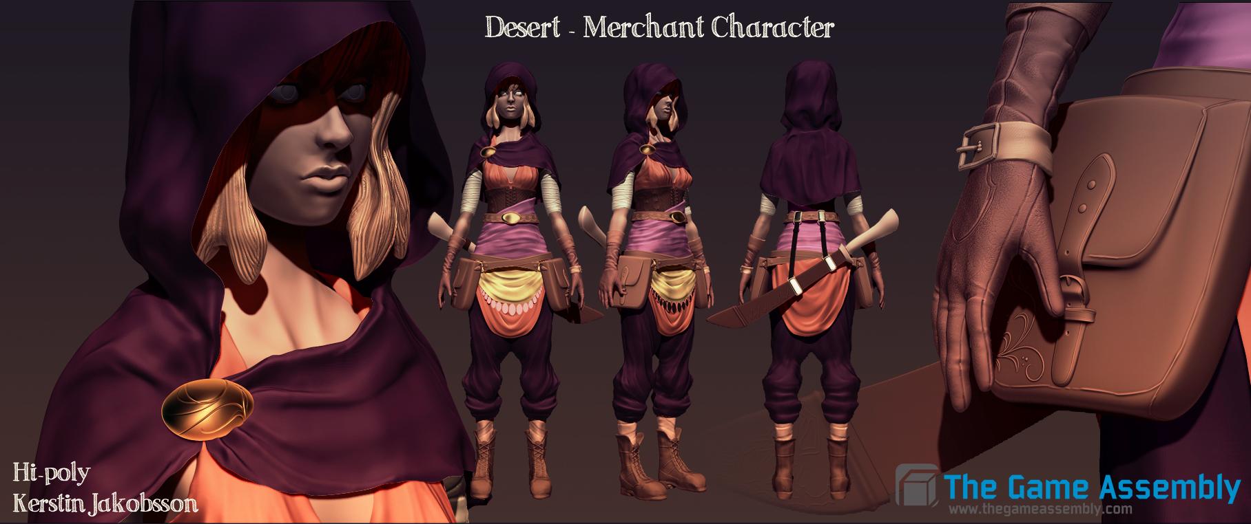 Merchant character by EvilQueenie