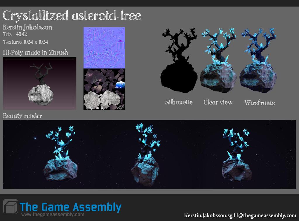 Crystal asteroid tree by EvilQueenie