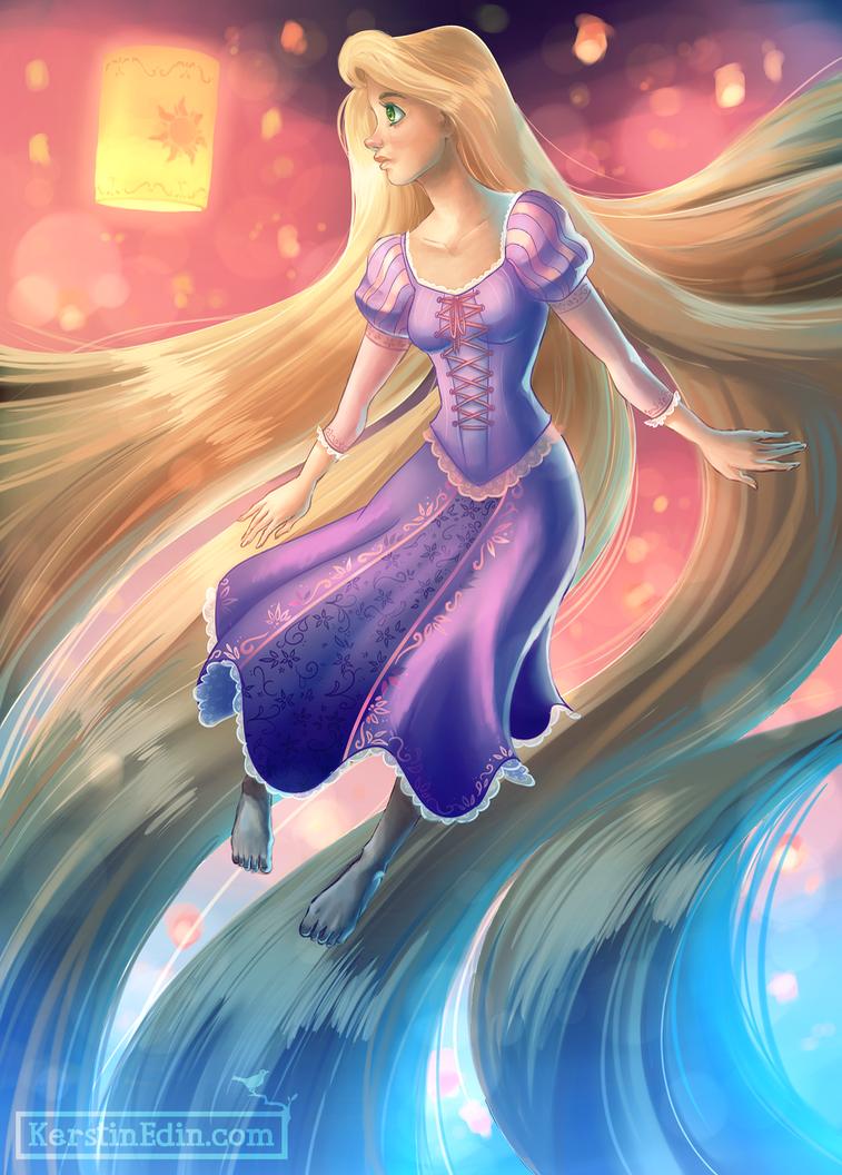 Rapunzel - Disney by EvilQueenie