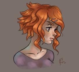 Orange Doodle by EvilQueenie