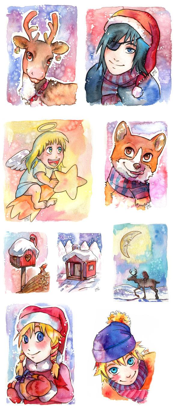 Christmas Cards by Yasuli