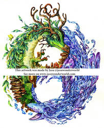 Yin and Yang Dragons by Yasuli