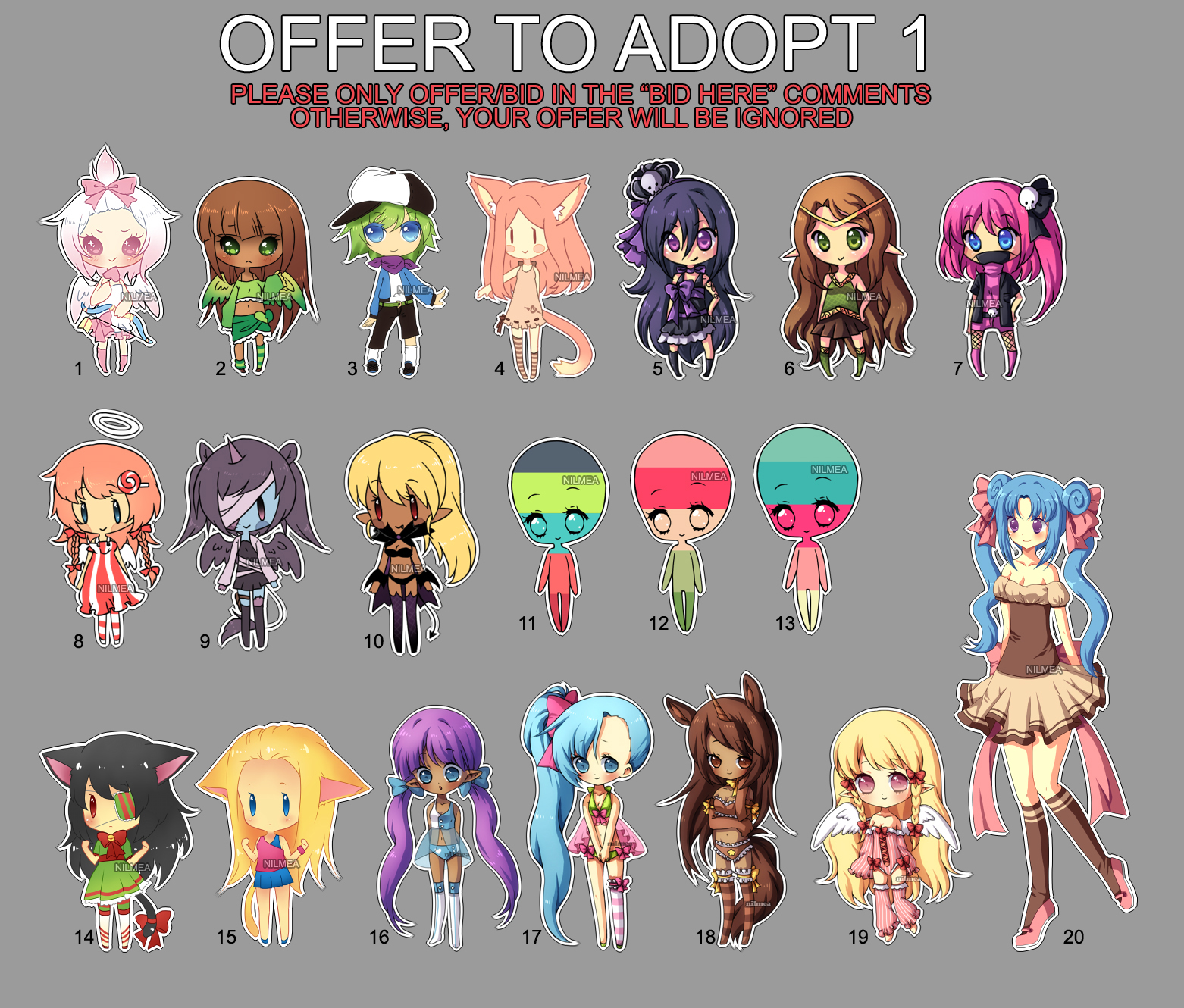 .: Offer to adopt set 1 (open) :. by nilmea