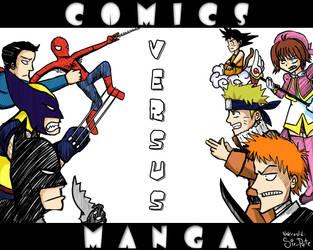 Comics versus Manga by SirPete