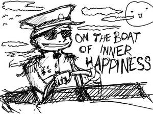 On The Boat of Inner Happiness