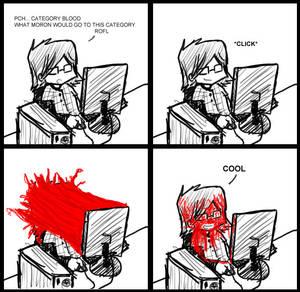Blood strip comics