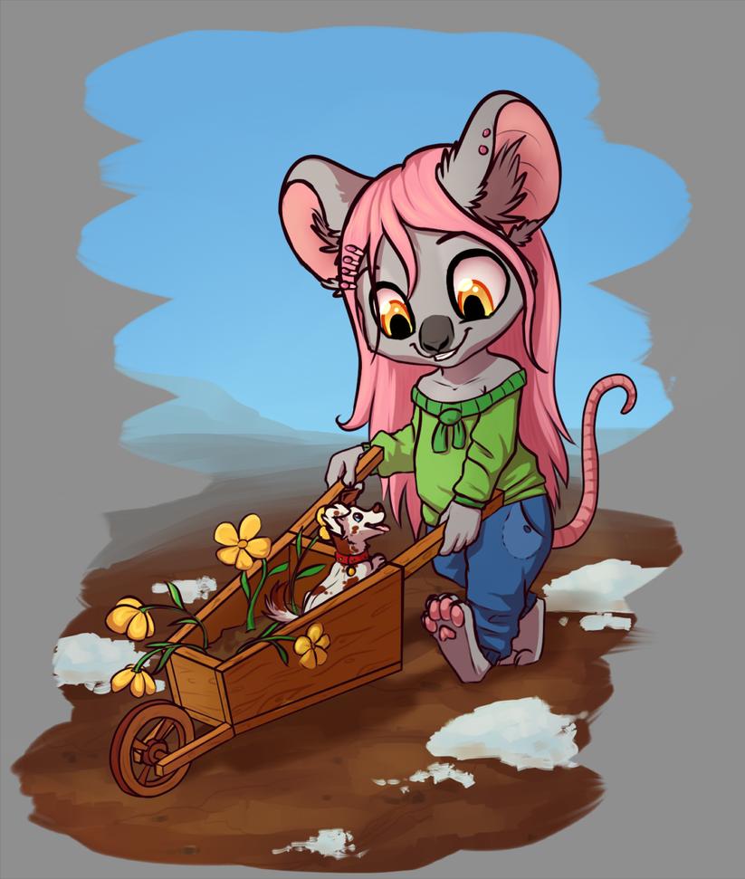 Little gardener by PanteraYoshi