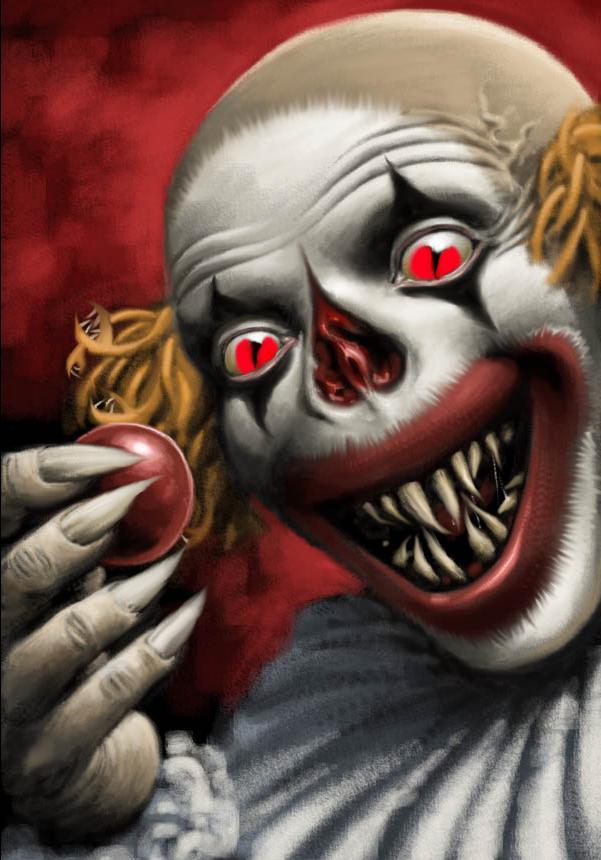 Demon Clown by DevilTheVampireBat on DeviantArt