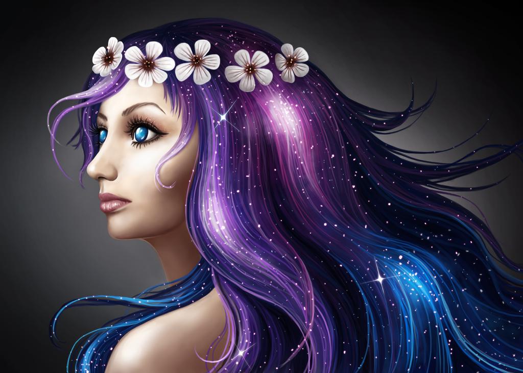 Galaxy Hair by LotsOfLowe