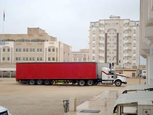Red Truck in Salalah
