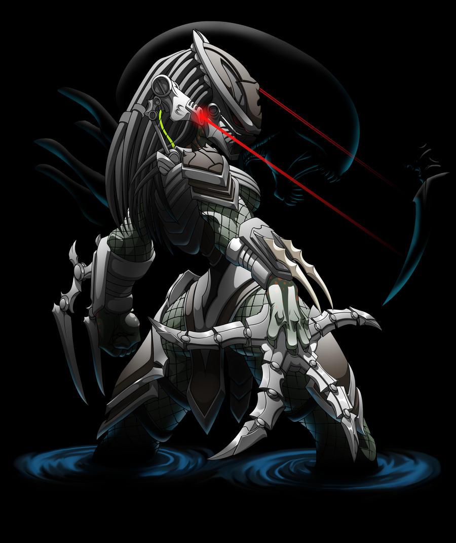 2951 Predator Girl 4 by Spoon02