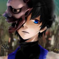 Styx wearing the Shinigami Mask