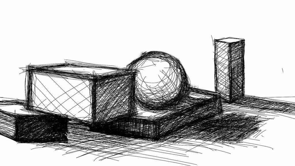 DeviantArt Sketch This Challenge - Cross hatch by CrazyJ454