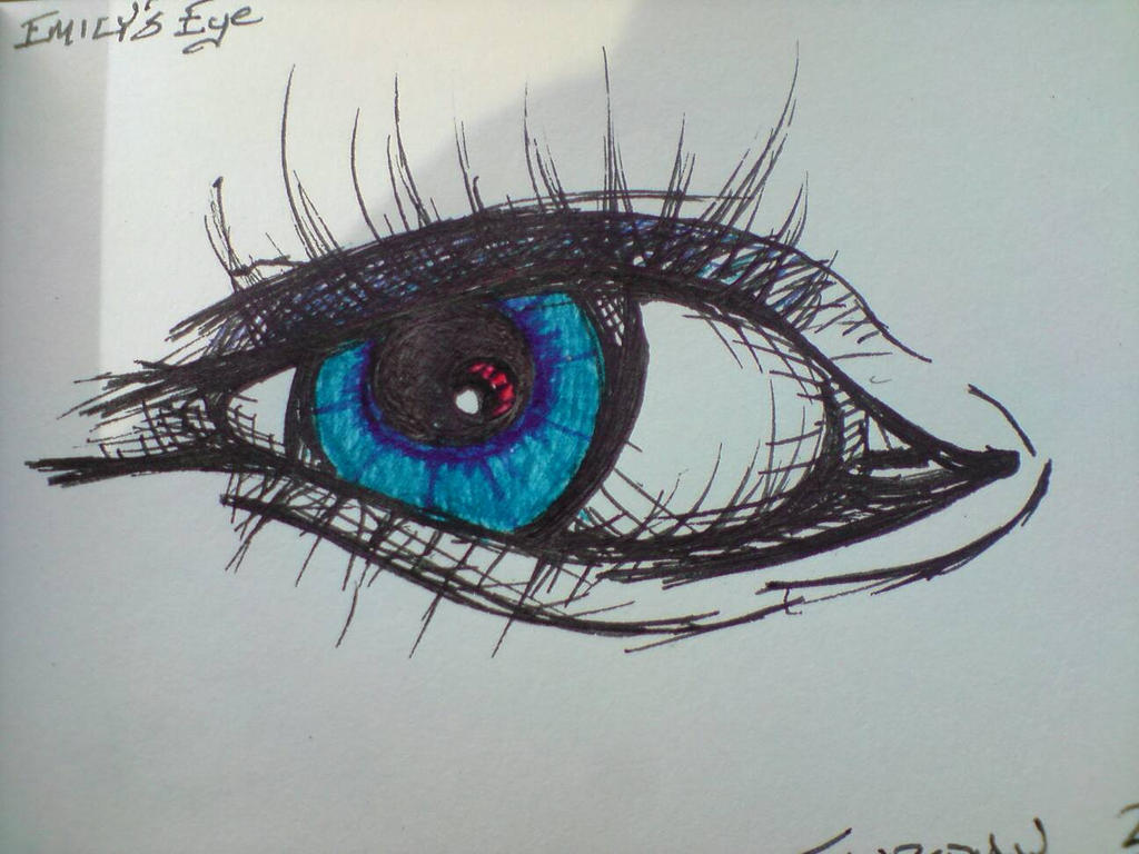 Emily's Eye (Sketch)  by CrazyJ454