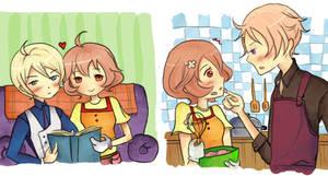 HM AP: Molly has a cute bob -a.k.a. my AP OTPs