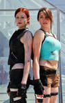 Lara Croft and The Doppelganger Cosplay
