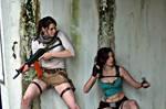 Take Cover: Drake!Lara and Lara Croft
