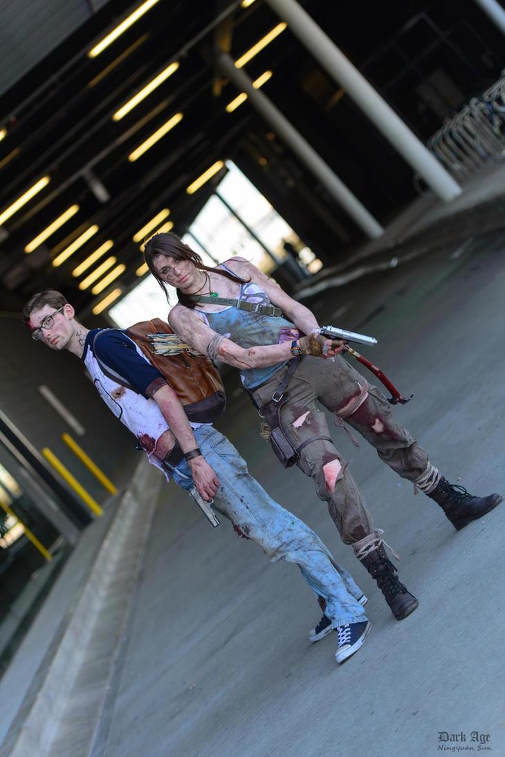 Alex Weiss and Lara Croft by Athora-x