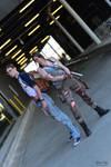 Alex Weiss and Lara Croft