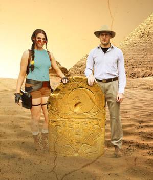 Lara and Werner Von Croy in Egypt Cosplay