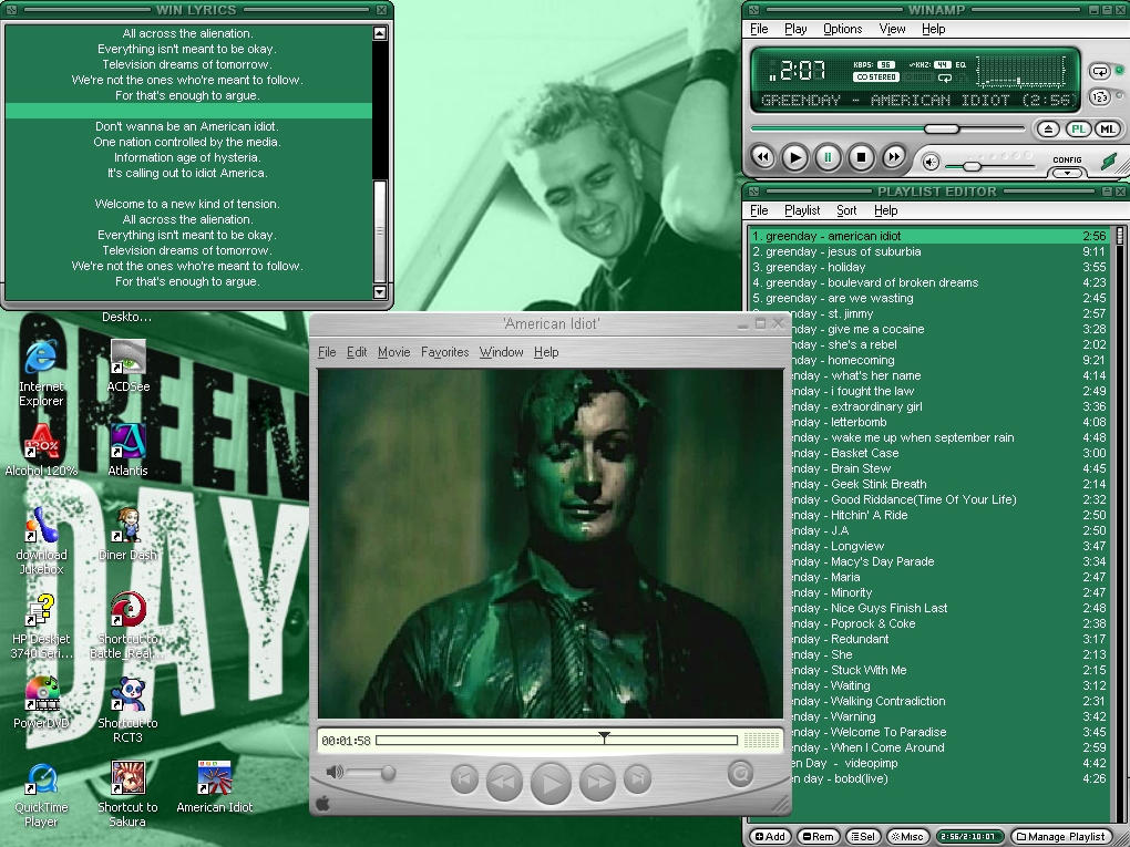My Green Day Attributes